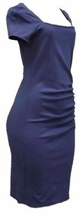 Other 77 Square Neck Ruched Accents Sheath Knit Dress