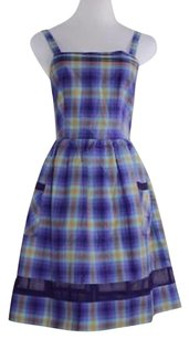 Other Thistle Pearl Womens Plaid Sheath Sleeveless Above Knee Dress