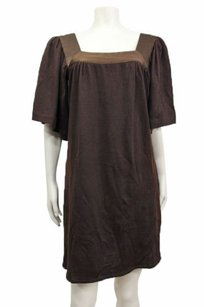 short dress Brown Sunner Solid Knit Shift on Tradesy