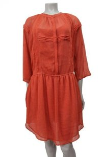 Other short dress Orange Staring At Stars Urban Outfitters Chiffon Shirt Pleated on Tradesy