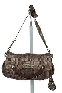 Other Francescobiasia Womens Taupe Textured Handbag Shoulder Bag