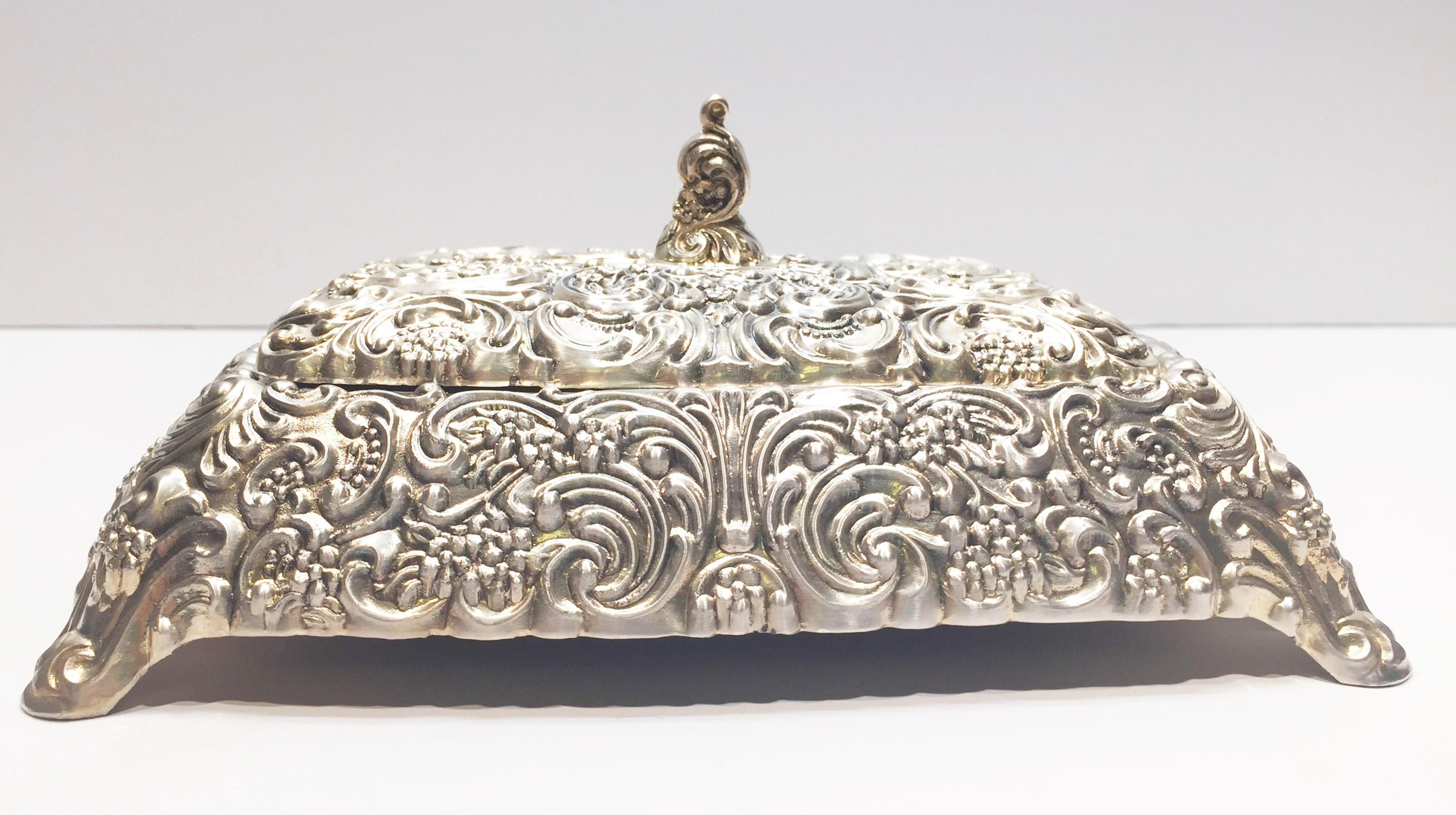 Silverplated Vintage Jewelry Box by David Orgell Roxanne Anjou