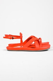 Other Fausto Santini Strappy Slingback Flat Rosso Red Sandals