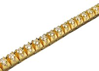 Other Solid Yellow Gold Raised D Solitaire Link Diamond Bracelet Mm Ct