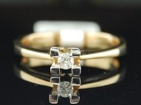 Diamond Solitaire Engagement Ring 14k Yellow Gold Round Wedding Promise 110 Tcw