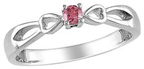 Other Sterling Silver 110 Ct Pink Diamond Tw Bow Fashion Ring