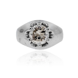 14k White Gold 2.31ct Diamond Mens Ring