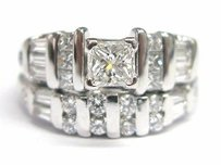 Fine Multi Shape Diamond Engagement Ring Wg 1.52ct