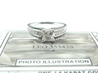 The Leo Princess Cut Diamond Engagement White Gold Jewelry Ring 1.33ct