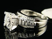 Womens Ladies Bridal Engagement Xxl Diamond Ring 1.0 Ct