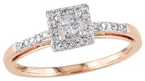 Other 10k Pink Gold 15 Ct Princess And Round Diamonds Tw Engagement Ring Gh I2i3