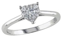 Other 10k White Gold 14 Ct Diamond Tw Heart Love Solitraire Ring Gh I1i2