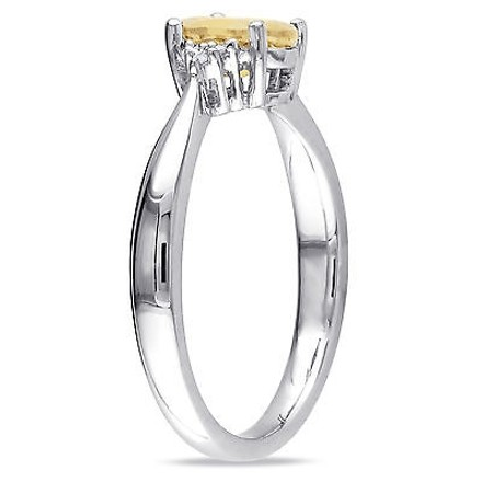 Other 0.73 Ct Tw Diamond And Citrine Fashion Ring In Sterling Silver I3