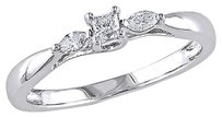 Other 10k White Gold 14 Ct Princess And Marquise Diamonds Tw Engagement Ring Gh I2-i3