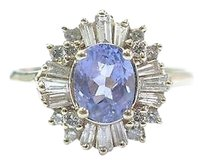 Fine Gem Tanzanite Multi Shape Diamond Yellow Gold Jewelry Ring 1.69ct