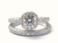 Fine Round Cut Diamond Engagement Wedding Set Wg 1.15ct