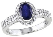 Other 10k White Gold 13 Ct Diamond And 1 Ct Diffused Sapphire Fashion Ring Gh I1i2