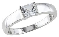 Sterling Silver 34 Ct Tgw White Sapphire Fashion Ring Size 9