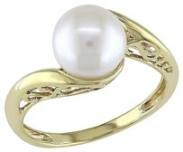 10k Yellow Gold Cultured Freshwater Pearl Twist Ring 8-8.5 Mm