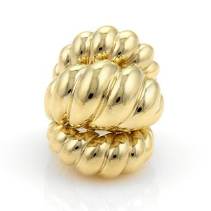 Spritzer Fuhrmann Hefty 18k Yellow Gold Triple Dome Rib Design Ring