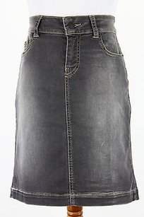 Other I Blues 81060416 Straight Pencil Womens Skirt Grey