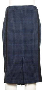 Other Shades Of Grey Michael Cohen Womens Navy Black Straight Cashmere Skirt Multi-Color