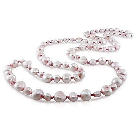 Other 36 Endless Pink Freshwater Pearl Strand Necklace 5-9 Mm