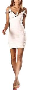 Other Pas Cucci White Nunzia Off Ruched Body Con 190697tag Dress