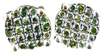 Other Mens Round Cut Green Diamond Earrings Studs 2.5 Ct