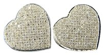 Womens Heart Pave Xl Diamond 17 Mm Stud Earrings 1.0ct