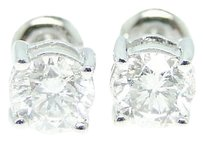 34 Ct Round Cut Solitaire Diamond Studs Earrings .75 C