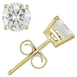 Other 14k Yellow Gold Diamond Solitaire Stud Earrings 1.5 Cttw H-i I1-i2