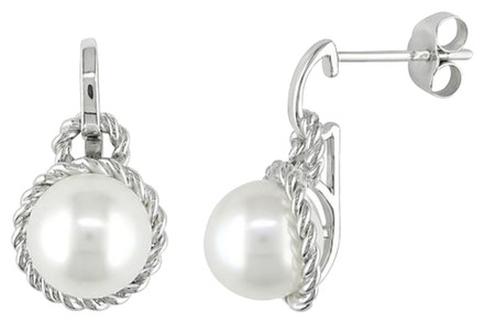 Other Sterling Silver 8-8.5mm Pearl Stud Earrings