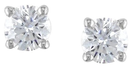Other 14k White Gold Diamond Stud Earrings 1 Cttw G-h Vs1 Vs2