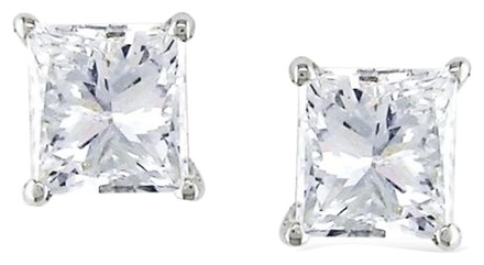 Other 14k White Gold Diamond Solitaire Stud Earrings 0.68 Cttw I Si