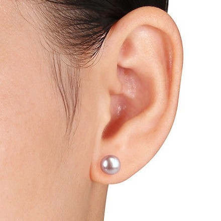 Other 10k Yellow Gold 8-8.5 Mm Freshwater Pearl Aaa Stud Earrings