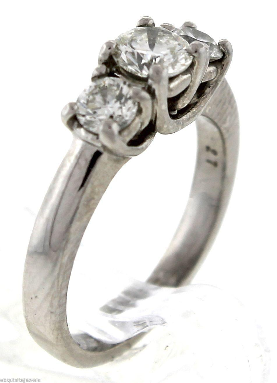 Three Stone Engagement Ring With Wedding Band Princess Cut Lab Created White Sapphire In Sterling Silver E