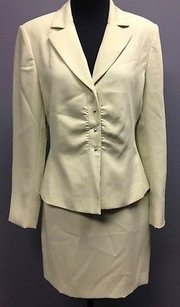 Other Tahari Arthur Levine Green Polyester Lined Pc Womens Skirt Suit Sm4361