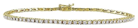 Other 14k Yellow Gold Diamond Bracelet 1 Ct G-h I1-i2 7.25