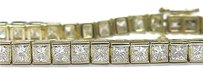 Other 18kt Princess Cut Diamond Tennis Bracelet Yg 12.26ct