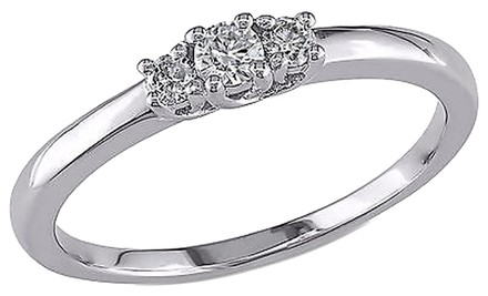 Other Sterling Silver 15 Ct Diamond Tw 3 Stone Ring Gh I2i3
