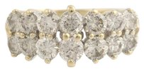 Tiered Champagne Diamond Band Anniversary Cocktail 14k Yellow Gold Ring 2.02ctw