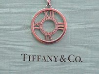 Other Tiffany Co 18kt Atlas Diamond Circular Pendant Necklace