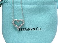 Tiffany Co Platinum Diamond Heart Pendant