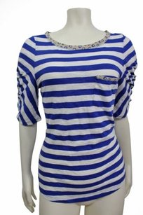 Other Postmark Anthropologie Striped Pocket Tee Top Blue white