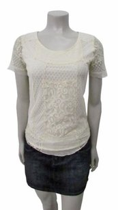 Intimately People Cream Lace Top Ivory