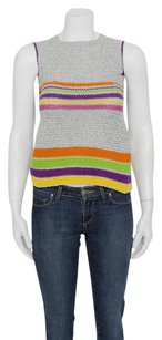 Stephen Sprouse Silver Top Multi-Color