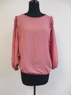 Other Scarlet Speedwell Dolman Sleeve Elastic Hem Crew Neck O922 Top Pink