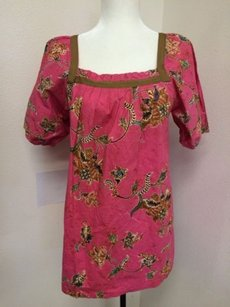 Other Sunan Vintage Peasant Hawaiian Print Exotic Tropical Asian Tunic