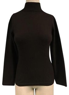 Other Riccardo Piacenza Dark Cashmere Mock Neck Basic Fitted 3146a Sweater